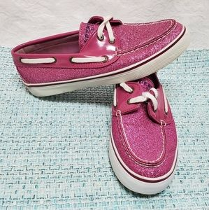 Sperry Top-Sider Women's 6.5 Pink Glitter Shoes